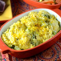 Broccoli Cheese Rice Casserole - Feed Your Soul Too #casserole #comfortfood
