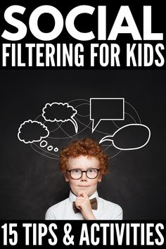 8 Social Filter Activities for Kids | If you're looking for social skills activities that help teach children how to filter their thoughts and learn whether they should think it or say it out loud, we're sharing 8 ideas that can be used for elementary school, for middle school, for high school, and for kids with special needs like autism and ADHD. These are great team building exercises and will help develop friendship and conversation skills. Social Skills Activities, Teaching Social Skills, Educational Activities For Kids, Autism Activities, Help Teaching, Craft Activities For Kids, Physical Activities, Autism Behavior Management, Team Building Exercises