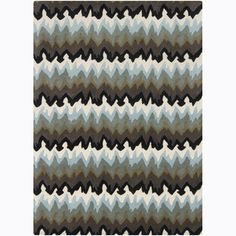 Overstock.com -Mandara Hand-tufted Multi-color Wool Rug (7' x 10')
