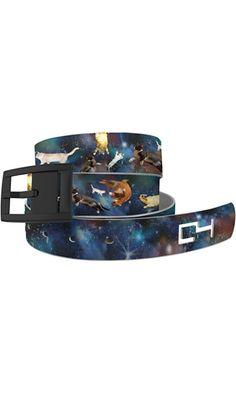 C4 Design Belt: Space Cats Strap / Black Buckle Best Price