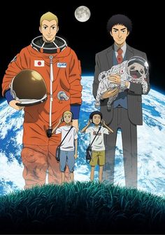 Crunchyroll is rolling out some more spring anime announcements, and the latest is Space Brothers. Directed by Doraemon veteran Ayumu Watanabe and based on the Shogakukan Award-winning manga by Chūya Anime Dvd, Anime Manga, Dojo, I Love Anime, Me Me Me Anime, Anime Schedule, Pugs, Blu Ray Collection, Anime News Network