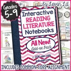 This Interactive Reading Literature Notebook is full of dynamic lessons and activities for teaching literary elements in grades 5-9 whether or not your district uses Common Core. An alignment is included for Common Core Reading Literature for Grades 5-9.