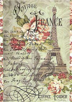 Rice Paper for Decoupage, Scrapbook Sheet, Craft Paper Vintage Tour Eiffel in Crafts, Cardmaking & Scrapbooking, Decoupage | eBay