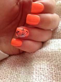 bright summer nails 2015 - Health Tips Nail Art Orange, Orange Nail Designs, Short Nail Designs, Summer Nails 2015, Bright Summer Nails, Nail Summer, Bright Orange Nails, Spring Nails, Summer 2015