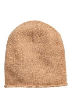 Kaszmirowa czapka - Beżowy - ONA | H&M PL 1