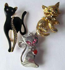 vintage cat brooch   eBay
