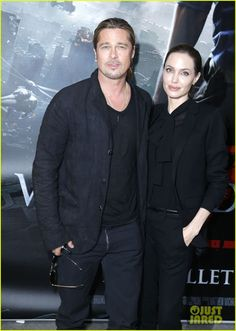 Angelina Jolie & Brad Pitt: World War Z Paris Premiere! | angelina jolie brad pitt world war z paris premiere 02 - Photo