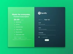 Spotify Sign Up by Hardik Sharma on Dribbble Login Page Design, Layout Design, Web Ui Design, Web Layout, Footer Design, Form Design, Website Design Inspiration, Web Mobile, Sign Up Page