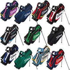 Titleist Lightweight Golf Stand Bag (Purple/Grey/Red)