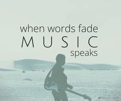 """when words fade music speaks"" #music #speaks #quotes #facebook #qotd #canva #annmccartney @annmccartney"