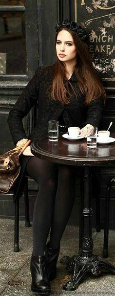 Cafe St Regis, Paris ``` Parisienne women Such style.: