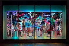 Topshop Oxford Street – Neon Summer Window, London – UK » Retail Design Blog
