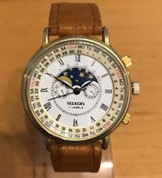 Vintage Saxon hand winding moonphase watch just serviced excellent condition