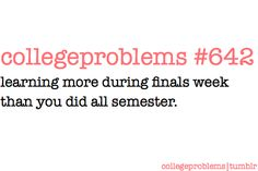 omg...this is me this week!! guess better late than never.