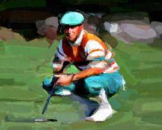 Payne Stewart by Bob Smerecki Stewart, Bob, Artwork, Sports, Painting, Hs Sports, Work Of Art, Auguste Rodin Artwork, Bob Cuts