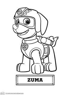 Paw Patrol Coloring Pages To Print. Kids love Paw Patrol, the characters in these movie very popular among children. That's why they also will loove these paw p Ryder Paw Patrol, Rubble Paw Patrol, Zuma Paw Patrol, Paw Patrol Party, Paw Patrol Birthday, Blank Coloring Pages, Paw Patrol Coloring Pages, Cartoon Coloring Pages, Printable Coloring Pages