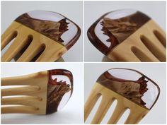 Haarnadeln - Haarforke aus Holz und Acryl - ein Designerstück von Avilee bei…