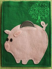 Piggy bank quiet book plus lots of other quiet book ideas