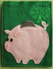 Piggy bank quiet book plus lots of other quiet book ideas