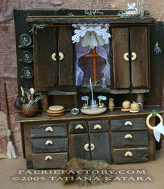 Faerie houses, furnishings, workshops and enchanted lands by Tatiana Katara