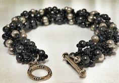 Beadwork Bracelet  Seed Bead Patterned Bracelet  by DuMoments