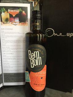 Try a classic caipirinha with BemBom Brazilian rum at One Up Glasgow Brazilian Rum, Cocktails, Drinks, Mojito, Glasgow, Gin, Vodka Bottle, Classic, Caipirinha