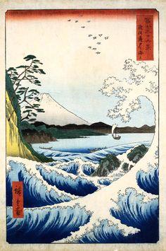 Hiroshige....love at frist sight many years ago. Exhibiton, Kunsthaus Zürich: Monet, Gauguin, van Gogh … Inspiration Japan