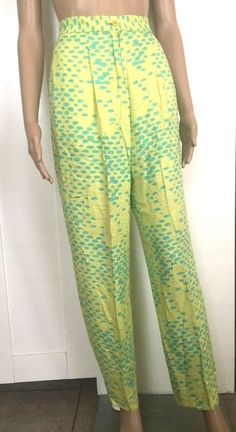 RARE 1985 WARHOL STEPHEN SPROUSE DAY-GLO HIGH WAIST SEDITIONARIES PANTS PUNK 4 #STEPHENSPROUSE #HighWaist #ALL