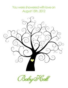 Printable Baby Shower Thumbprint Tree  by BelladellaCreations, $12.00