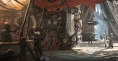 Images: A Collection Of Stunning Sci-Fi & Fantasy Concept Art From Hernan Melzi spoiler free science fiction news from the movie sleuth. Fantasy Concept Art, Sci Fi Fantasy, Space Fantasy, Futuristic City, Landscape Artwork, Cyberpunk Art, Art Station, Environment Concept Art, Fantasy Inspiration