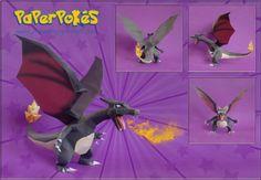 paperpokes | PaperPokés - Pokémon Papercrafts: CHARIZARD (Happy New Year 2011)