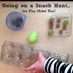 Snack Hunt Fine Motor Skills Activity for Kids from Lalymom