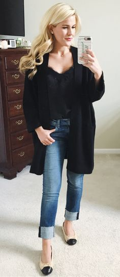 #summer #outfits Did A Full Try-on From The #Nordstrom Sale Over On Snapchat (SummerWind41490). I Was Underwhelmed This Year, What About You? This Is One Of My Favorite Outfits- Specifically This Cashmere Cardigan. I Think It Is The Best Piece In The Sale!