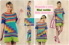 Delicadezas en crochet Gabriela: Mini vestido