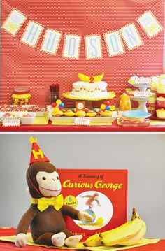 Curious George (Bananas & Bow-Ties) Party styled by One Swell Studio (www.oneswellstudio.etsy.com)