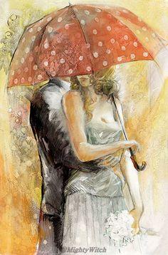 Under Umbrella I by Lena Sotskova.