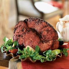 Blackberry-Mustard Glazed Ham | MyRecipes.com