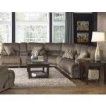Catnapper - Riley 3 Piece Power Sectional Sofa Set in Musk/Coppertone - 61221-SECTIONAL-MUSK