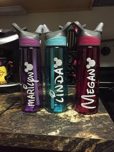 Disney water bottles by FairestMeganOfAll on Etsy