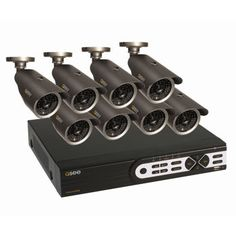 Q-See 8 Channel Full D1 Real Time DVR Security System with 500GB and 8 High Resolution Cameras