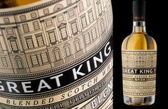 Great King St. blended scotch whisky. Packaging design by Stranger  Stranger