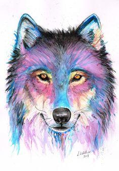 Wolf in Watercolour by lornpk.deviantart.com on @deviantART