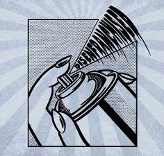 Stencil Punks Disenfranchised Lichtenstein Andy by hipsoul