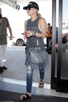 Sienna Miller Wears Birkenstocks, Matches Daughter in ...