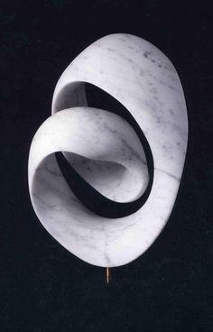 Split Mobius, carrara marble, 1997