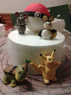 Work in progress...pokemon cake