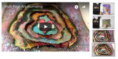 MULTI PAGE ART JOURNAL – Mixed Media Art Tutorials