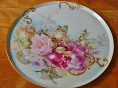 Beautiful Limoges France Hand Painted Porcelain French Tray Plaque for…