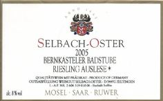 2005 Selbach-Oster Riesling 750 mL ** See this great product.  This link participates in Amazon Service LLC Associates Program, a program designed to let participant earn advertising fees by advertising and linking to Amazon.com.