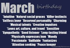 I shouldn't have been born in March....